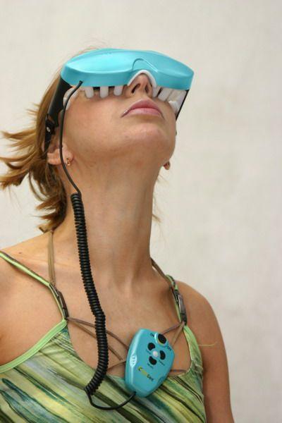 массажные очки