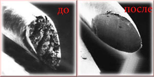 стрижка горячими ножницами - до и после