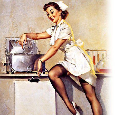 Современная девушка на кухне