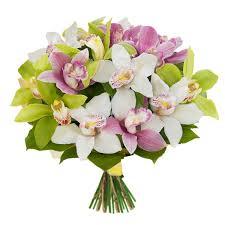 Роскошные букеты из орхидей от цветочной базы «Мосцветторг»