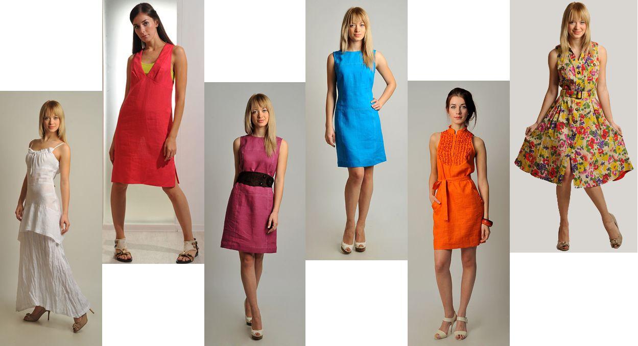 летние льняные платья