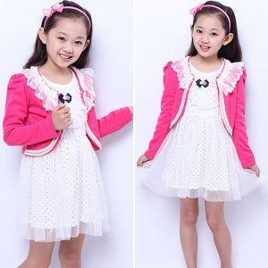 pcs set Free Shipping Girls Casual font b Dress b font Suit Cotton Lace font b