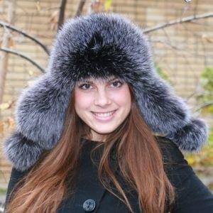 меховая шапка ушанка женская