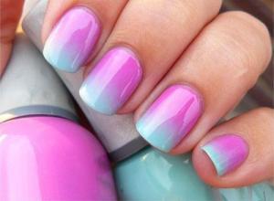 как красить ногти двумя цветами