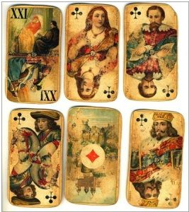 первые игровые карты