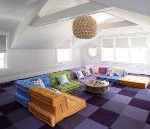 ковровая плитка в интерьере