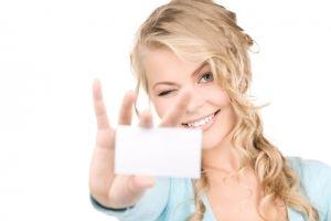 визитка деловой женщины