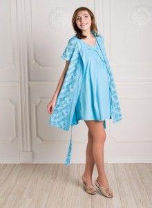 Сорочка и халат для беременных