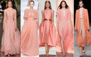 персиковый в моде