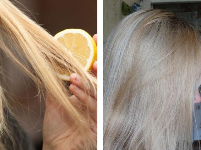 Чем и как осветлить кончики волос в  79