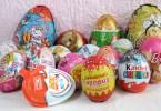 Шоколадные яйца в подарок детям