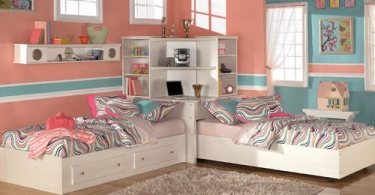 Детская комната для близнецов или двойняшек