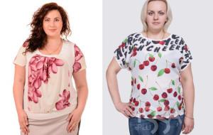 Практичные женские футболки больших размеров - интернет-магазин