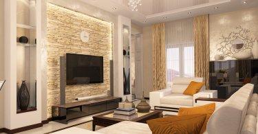 Интерьер большой комнаты. Как сделать зал стильным и удобным
