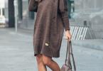 Как подобрать красивое вязаное платье