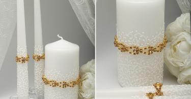Свадебные свечи для украшения стола